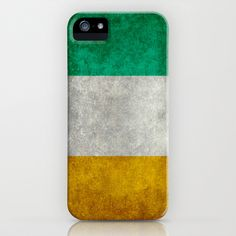 National flag of the Republic of Ireland - Vintage Version iPhone & iPod Case by Bruce Stanfield - $35.00