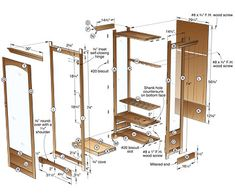 Display cabinet plans, Free woodworking plans and projects information for building display cabinet furniture.