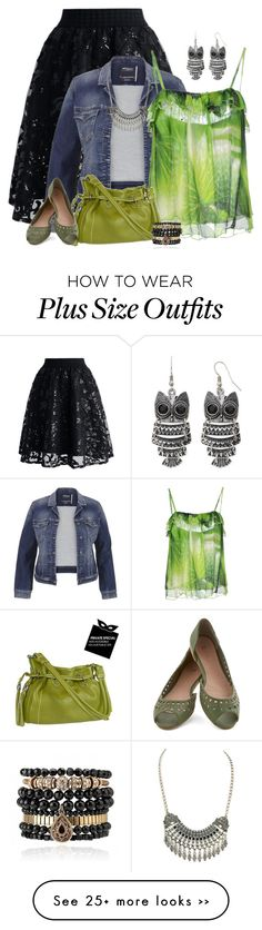 """""""Denim Jacket & Lace Skirt"""" by majezy on Polyvore"""
