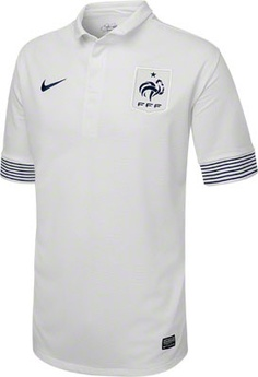 France Soccer White Nike Replica Away Jersey - made from 100% Recycled Material-  http://www.fansedge.com/France-Soccer-White-Nike-Replica-Away-Jersey-_1249256533_PD.html?social=pinterest_3612_france