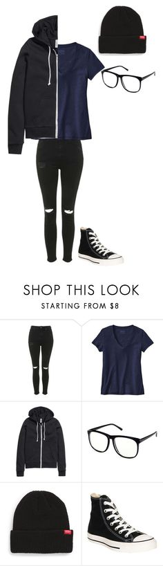 """Untitled #154"" by darksoul7 ❤ liked on Polyvore featuring Topshop, Patagonia, H&M, Vans and Converse"