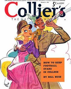 Collier's, January (Cover art by Earl Oliver Hurst) Vintage Cartoon, Vintage Comics, Vintage Posters, Vintage Art, Art Illustration Vintage, American Illustration, Cleveland, Cartoon Hair, Bd Comics