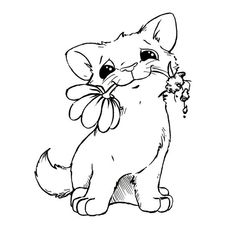 Best Ideas about Digital Stamps Cat Coloring Page, Coloring Book Pages, Coloring Sheets, Scrapbooking Chat, Digital Stamps Free, Cat Cards, Cat Drawing, Digi Stamps, Baby Cats