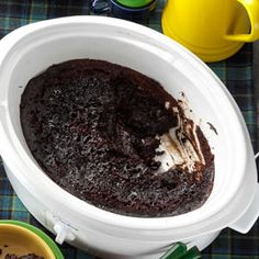 I have to try this....  Slow Cooker Chocolate Lava Cake Recipe from Taste of Home -- shared by Latona Dwyer of Palm Beach Gardens, Florida
