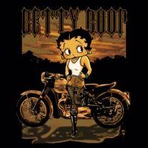 #bettyboop #popfunk  http://www.popfunk.com/mens-tees/betty-boop/boop-rebel-rider.html