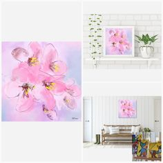 Pinkshade Flowers - Flowerly Abstracts - Square Art - Wall Art Prints - Digital Downloadable Prints #Flowers #Pink #Square Printing Services, Online Printing, Wall Art Prints, Fine Art Prints, Square Art, Types Of Printer, Home Printers, Decorating Your Home, Abstract