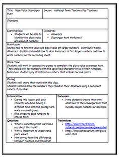 short lesson plan template