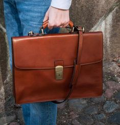 Leather briefcase for men, Personalized gift, Brown mens briefcase, Leather documents bag, Laptop bag - Arthur Briefcase For Men, Leather Briefcase, Leather Bag, Leather Purses, Macbook 15, Empty Canvas, New Bag, Italian Leather, Messenger Bag
