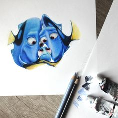 Finding Dory drawing by Jossluka