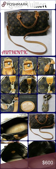 """Louis Vuitton Purse Vtg Authentic Louis Vuitton Purse pre 1980 Paris France No Trades.. Pre-owned Authentic vintage Louis Vuitton.....pre- 1980's speedy. Better than Normal wear and tear. No wear on corners.  I received lots of compliments when ever I wore this bag. This is 100 % Authentic. Measures L-12"""", H-9"""", W-6"""" From a smoke-free home, See comments for more descriptions. NO trades. Louis Vuitton Bags Satchels"""