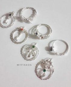 Son moda kolye ve yüzükler. Gümüş taşlı kolye uçları. Silver necklace and ring #silver #filigree #telkari #handmade #gümüş #necklace #ring