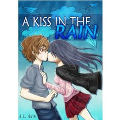 The rain was pouring when he saw her standing in the middle of the busy street, looking kinda lost. People were passing by her, but she just stood there. He walked towards her, took off his jacket and wrapped it around her shivering body. Kissing In The Rain, Lost People, Busy Street, Anime, Fictional Characters, Middle, Jacket, Link, Books