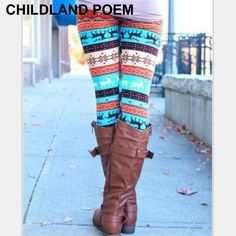 Mother and daughter clothes Mom daughter Halloween Christmas pants Print Capris Family Matching Outfits 2016 Girl Leggings