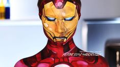 Comic Iron Man Makeup Tutorial (Marvel)