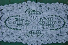 Antique Battenberg Lace Table Runner Scarf Shawl Handmade