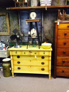 Painted dresser -  February 2014  Arbor Antiques Second & South Margin , Franklin TN.