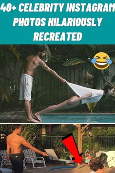 #Celebrity #Instagram #Photos #Hilariously #Recreated Funny Videos Clean, Funny Animal Videos, Cute Little Animals, Cute Funny Animals, Cute Animal Pictures, Funny Pictures, Pool House Decor, Unicorn Hair Color, Summer Family Photos