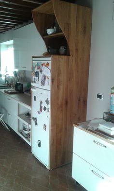 copertura in rovere x frigorifero