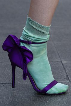 Socks And Heels, Ankle Socks, High Heel Boots, Heeled Boots, Shoe Boots, High Heels, Half Shoes, Runway Shoes, Fashion Shoes