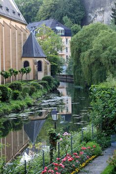 Alzette River - Grund, Luxembourg