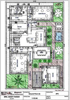 House Layout Plans, Duplex House Plans, Family House Plans, New House Plans, Modern House Plans, House Layouts, Mediterranean Architecture, Ancient Architecture, House Floor Design
