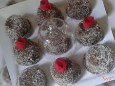 Soft Lamingtons recipe by Najiya posted on 21 Jan 2017 . Recipe has a rating of by 1 members and the recipe belongs in the Cakes recipes category Cake Recipes, Dessert Recipes, Desserts, Lamingtons Recipe, Eid Sweets, Halal Recipes, Food Categories, Cocoa, Biscuits
