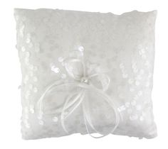WILTON SEQUIN & PEARL RING BEARER PILLOW 120-1202  - Click image twice for more info - See a larger selection of wedding accessories at http://zweddingsupply.com/product-category/other-accessories-entourage/ - wedding, fashion, wedding ideas, wedding style, entourage .