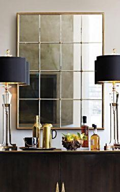 joli miroir fenêtre design épuré rectangulaire
