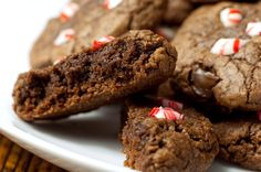 Click for a larger photo of Peppermint Fudgy Brownie Cookies