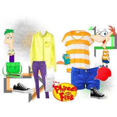 """Phineas and Ferb Inspired Outfit"" by neoncupcakexoxo on Polyvore"