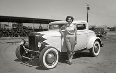 History - Hot Rod Pics from Cyberspace Rat Rod Girls, Car Girls, Classic Hot Rod, Classic Cars, Retro Pictures, Retro Pics, Vintage Pin Ups, Vintage Cars, Vintage Photos