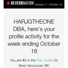 Thanks again ReverbNation fans, HGOHD.com music #5 this week on local charts! @reverbnation @soundcloud @bbcmusic @applemusic @yahoomusic @realdonaldtrump @people (at Vancouver Public Library)