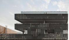 The 80% black 20% white building made with bricks in Toulouse, France