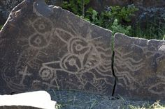 River Spirit Petroglyph -  the Columbia River Gorge