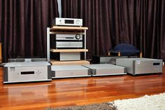 Ayre Acoustics, Pass Labs, Shunyata Research and in the floor the stunning Wadia Computer 9.