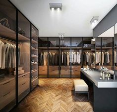 Best Modern Closet Design, For you fashion lovers and the latest clothing collection, the closet is a favorite furniture that is certainly needed at home. Walk In Closet Design, Closet Designs, Modern House Design, Modern Interior Design, Luxury Interior, Modern Houses, Walking Closet, Dressing Room Design, Dressing Rooms
