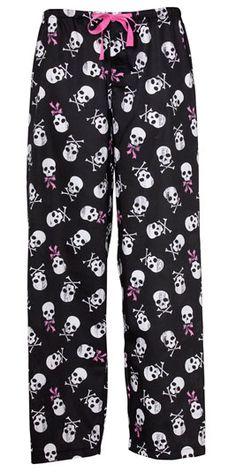 Skull pyjama pants