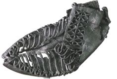 """A Roman leather carbatina -- a shoe, discovered at the London archeological dig. Watch the """"CBS This Morning"""" report about artifacts Ancient Rome, Ancient History, Art Quotidien, Roman Clothes, Eagle Statue, Empire Romain, Roman Sculpture, London History, London Museums"""