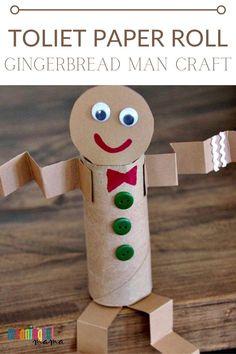 Childrens Christmas Crafts, Christmas Crafts For Kids To Make, Halloween Crafts For Kids, Kids Christmas, Preschool Arts And Crafts, K Crafts, Classroom Crafts, Babysitting Bag, Gingerbread Man Crafts