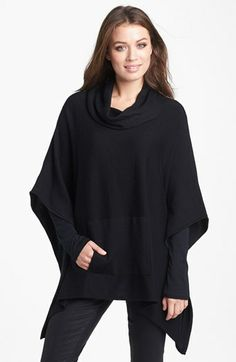 Eileen Fisher Funnel Neck Poncho Black Small/Medium. Throw on a layer of stylish warmth with this merino-wool poncho topped with a face-framing funnel ne......[$278.00]