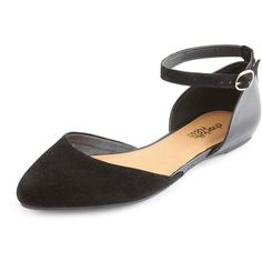 Ankle-Strap Pointy Toe Flat and other apparel, accessories and trends. Browse and shop related looks.