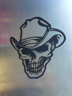 Cowboy Skull 14 ga mild steel
