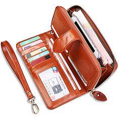 Fashion+Women's++Long+Wallet++Genuine+Leather++Clutch+Wallets+Purse+(Linning+color+on+random)+–+EUR+€+17.14