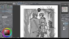 ★ Timelapse Digital Painting - Chapter 14 Cover [Tales of Midgard webcomic] Digital, Videos, Cover, Artwork, Painting, Work Of Art, Auguste Rodin Artwork, Painting Art, Artworks