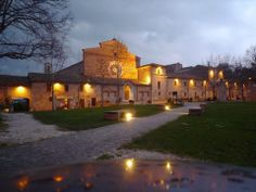 The Abbadia di Fiastra, a short drive away from our apartments at VillaMiramonti, Marche.