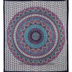 Buy purple & blue psychedelic hippie bohemian indian tapestry cotton bedding bedspread at best price.