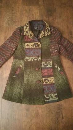 Vintage Coat - Vintage Jacket - BoHo Coat - Boho Jacket - Multicolor Coat - Multicolor Jacket - Bohemian Coat - Large Coat - Hippie Coat by MyHailiesHaven on Etsy