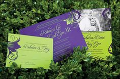 Your invitations will really pop with these bright colors!
