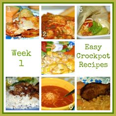 Easy Recipes: Crockpot Recipes - two weeks worth of meals, several of these look good.
