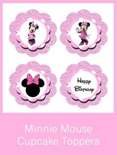 Minnie Mouse Cupcake Toppers - FREE PDF Download